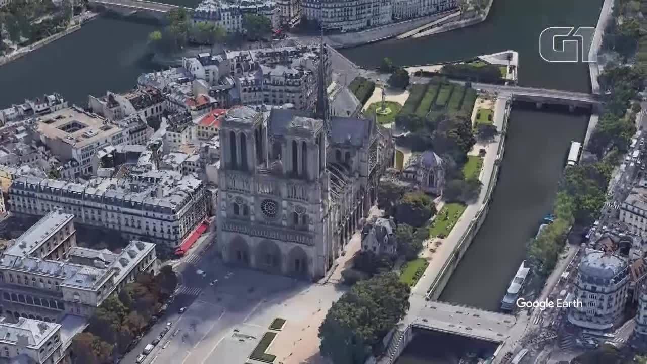 Animação mostra como era a catedral de Notre-Dame antes do incêndio