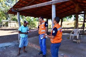 Em Palmas, equipe de trabalho trabalha a conscientização na zona rural