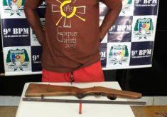 Homem é preso acusado de posse irregular de arma de fogo em Augustinópolis